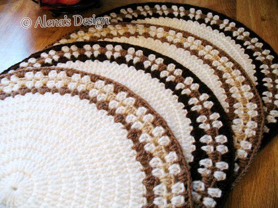 Crochet Placemat Pattern 166 DIY Placemat Crochet Pattern