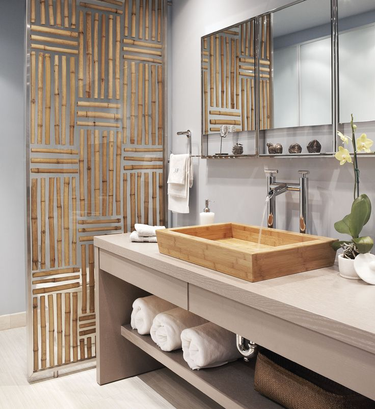 48 best bathroom bamboo in the bathroom images on pinterest bathroom bathrooms and bamboo house