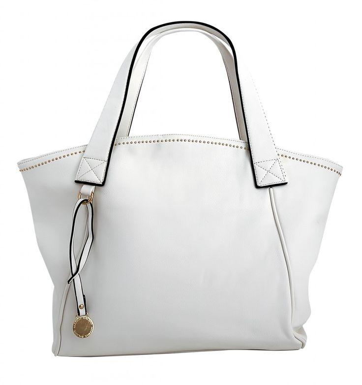 Dámská kabelka Shopper Bag v bílém provedení
