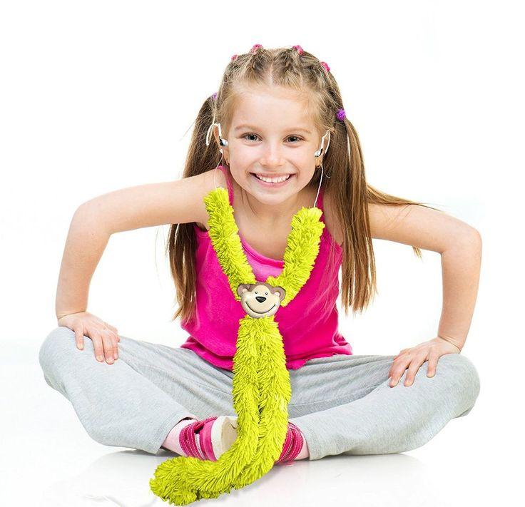 Kids Headphone Earbuds Adjustable High-Quality Earphone - Monkey Buds Plush Lime #MonkeyBuds