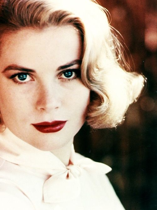 "Grace Kelly. Born in Philadelphia in 1929. Princess of Monaco. Actress. Hitchcock Starlet. Most Famous Works: ""Mogambo""(1953) ""Dial M for Murder""(1953) ""Rear Window""(1953). Died in 1982.:"