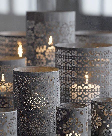 Glass Cylinder Candle Holders