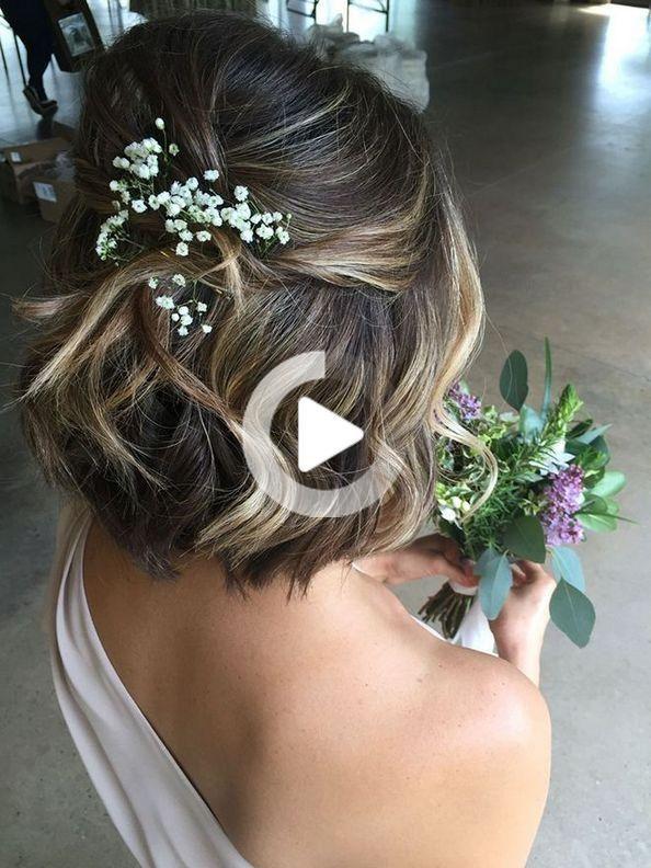 28 Cio Che Tutti Dicono Di Nozze Romantico Acconciature Sbagliato E Morto E Perche In 2020 Short Bridal Hair Wedding Hairstyles Bridesmaid Short Hair Styles