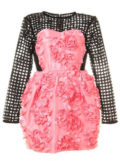 sretsis(スレトシス) | USAGI ONLINE(ウサギオンライン)|ファッション通販サイト : ワンピース > Dahlia メッシュコンビコクーンワンピース