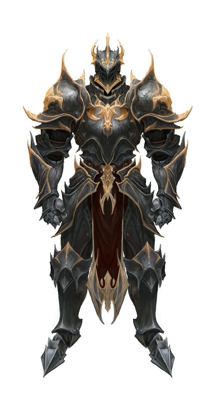 ArtStation - black and gold armor, young hun byun