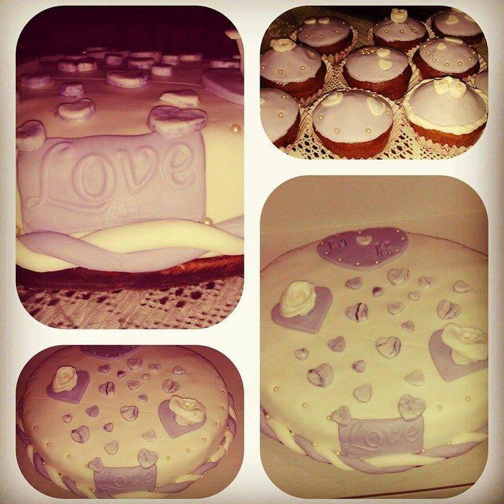τούρτα καρδιά cap cake hear γάμος wedding love