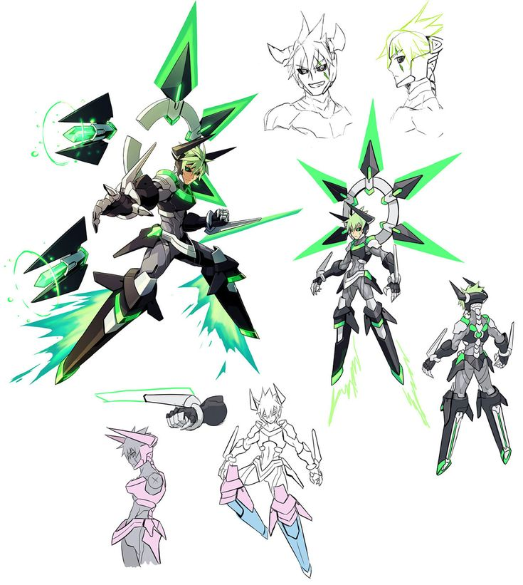 Jota Concepts from Azure Striker Gunvolt