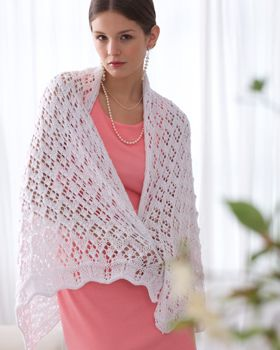 Special occasion on the way? Add a little magic and knit this shawl in Bernat Satin Sparkle!