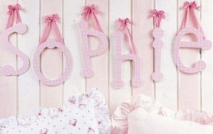 Gingham Hanging Letters with Ribbon
