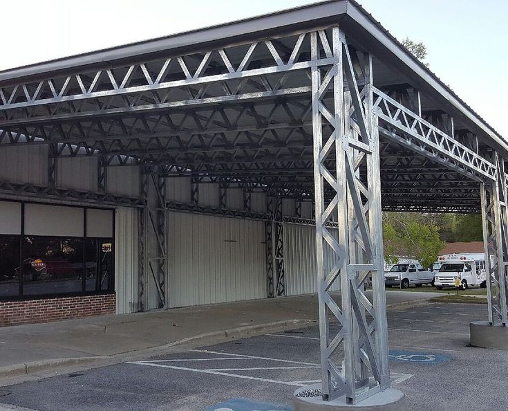 125 Large Lean To On Existing Structure Elite Metal Structures Metal Structure Framing Construction Steel Frame Construction