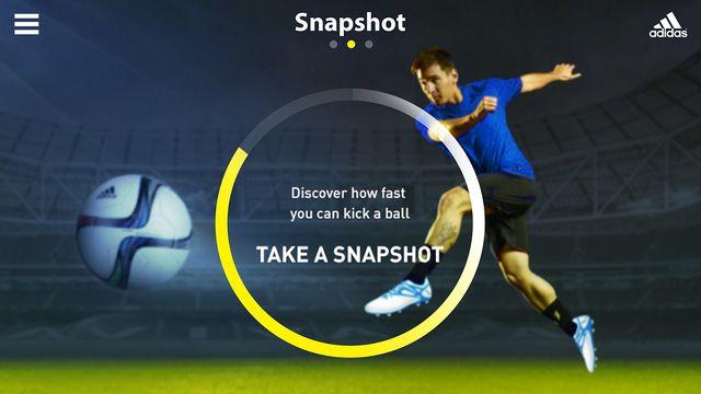 Adidas har udviklet den første app til at måle hvor hurtigt du kan sparke til en fodbold. Virker til iPhone og iPad