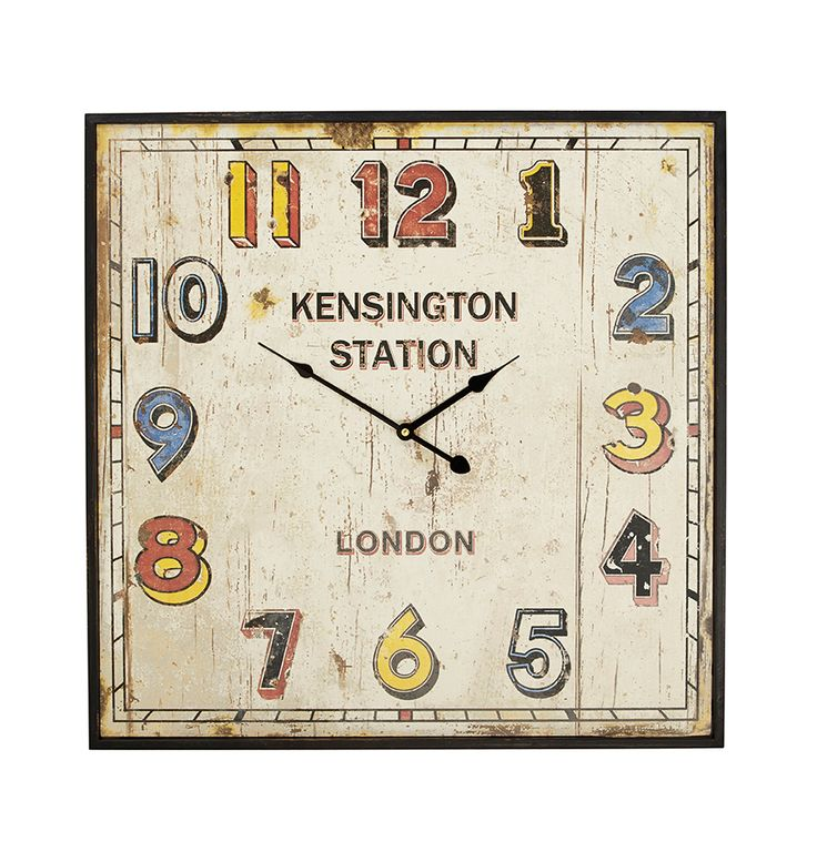 Homesense Wall Art : Kensington station clock from homesense homesenseuk