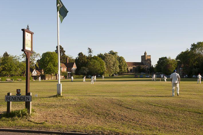 Cricket on the green in Benenden village, Kent. (c) David Merewether