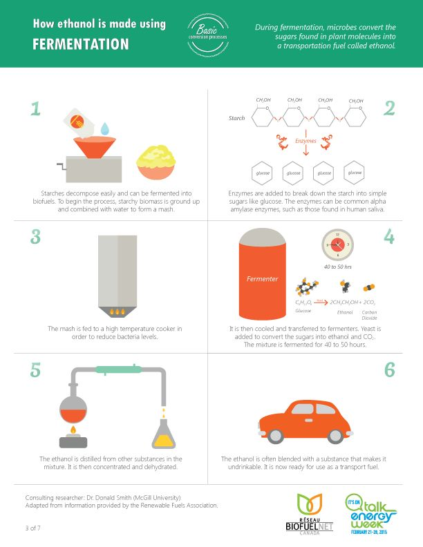 How ethanol is made using Fermentation