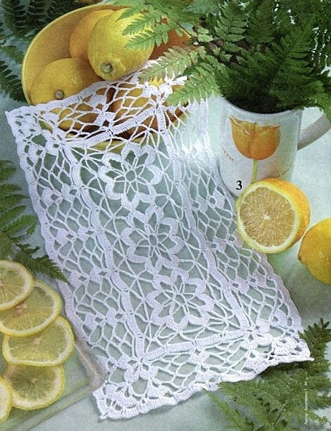 tons of free crochet patterns for rectangular doilies, including filet