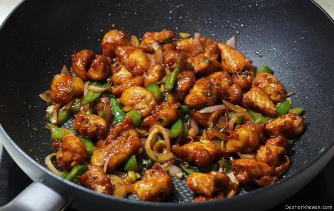 Chicken Chilli Dry is one of the popular Pakistani-Chinese style chicken appetizer or starter that is served in Chinese restaurants across the world. Boneless chicken (tiny fillets or cubes) are marinated in soya sauce, chili sauce and pepper. Then deep fried and then seasoned again in sauces to get the best Chinese Chilli Chicken. For a healthier option you can shallow fry or grill the chicken, details mentioned in the instructions below.             Ingredients  Oil for deep…