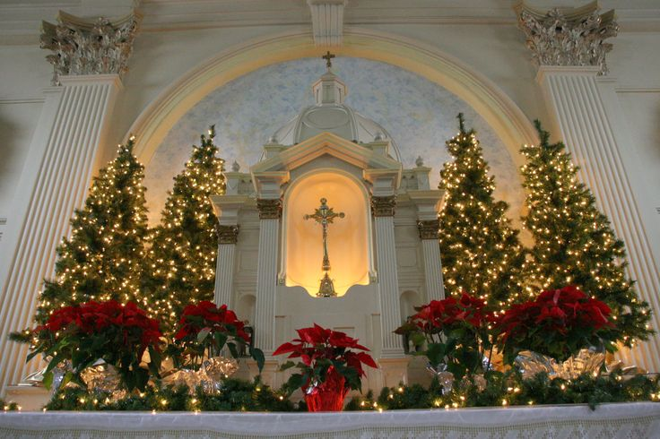 St. Dominic's Catholic Church at Christmas. Benicia,CA
