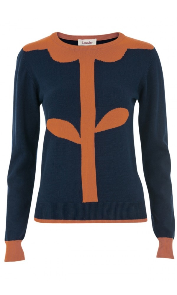Louche Flower Intarsia Jumper (and your head would be the flower!)