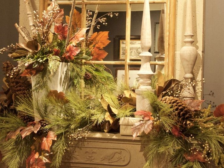 A captivating fall mantel at Nell Hill's.