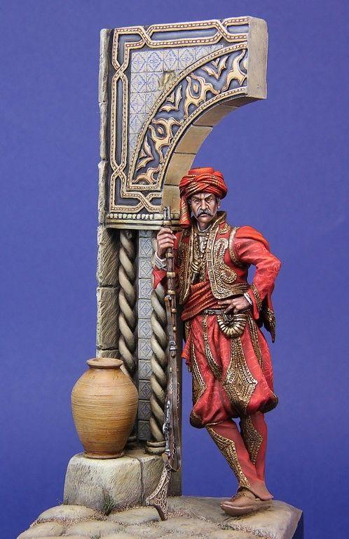 Kavas Bashi - Ottoman Empire - 75mm | planetFigure | Miniatures