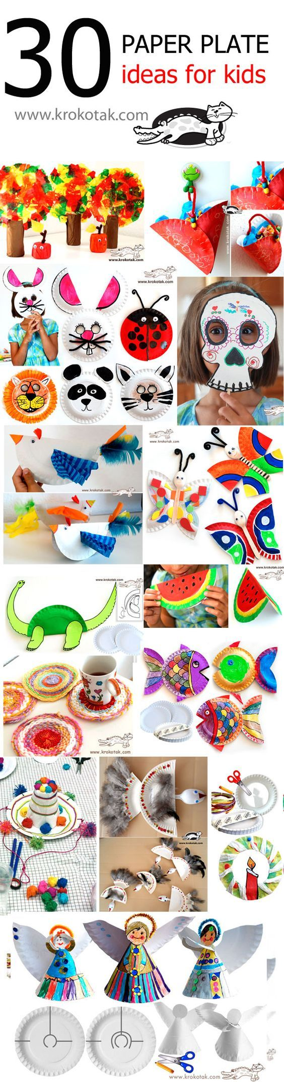 Basteln mit Papier oder Papp - Tellern - 30 tolle und easy Ideen *** PAPER PLATE Ideas for kids - easy to do and lots of fun
