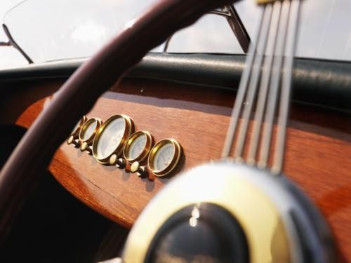wooden boat steering wheel