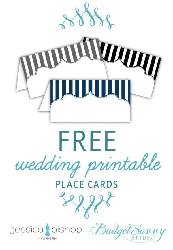 free printable place cards budget savvy bride pinterest