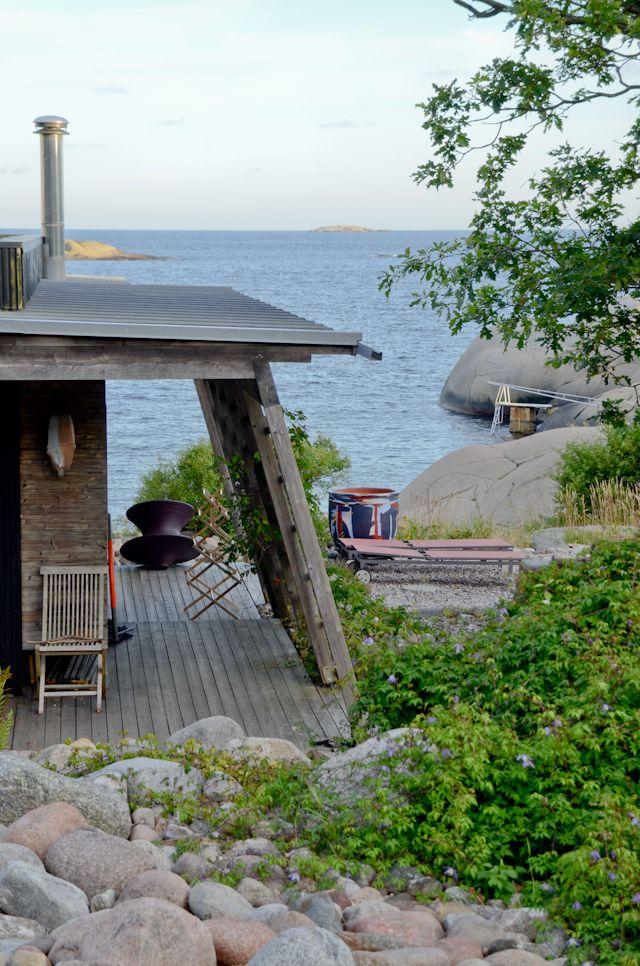 cabin on rocks