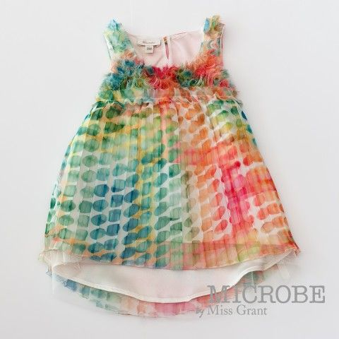MICROBE by #missgrant FANCY DRESS WITH COLORED POLKA DOTS. Sale 50% off Spring&Summer Collection! #discount