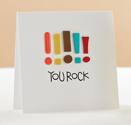 Recreate this card with ONE exclamation mark and any sentiment!!