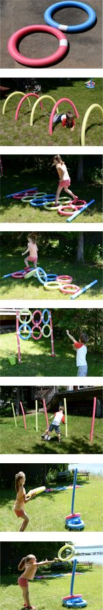 Pool Noodle Obstacle Course - kick the stormtrooper ballon through the noodles