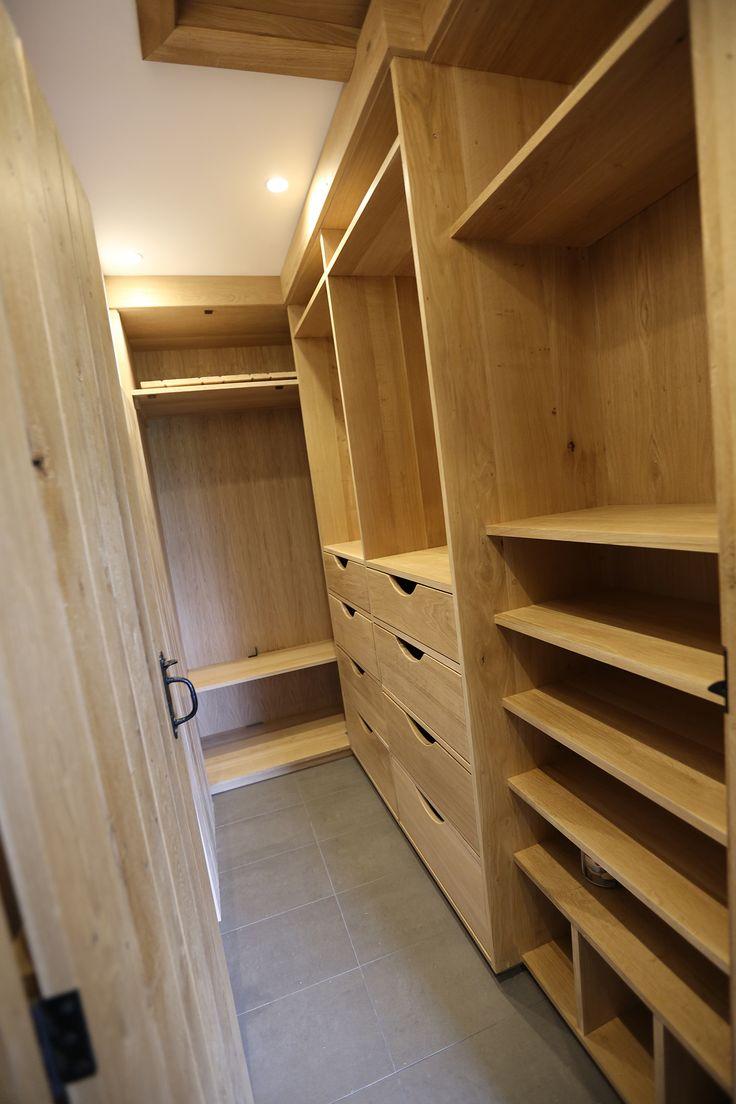 walk in wardrobe,in oak,  not quite finished
