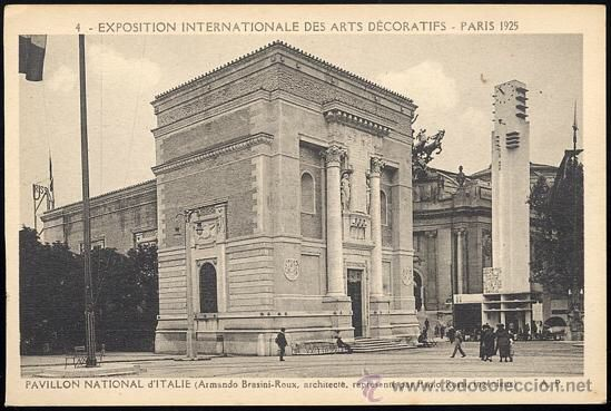 Italian national pavilion at the 1925 international Exhibition of Decorative Arts in Paris