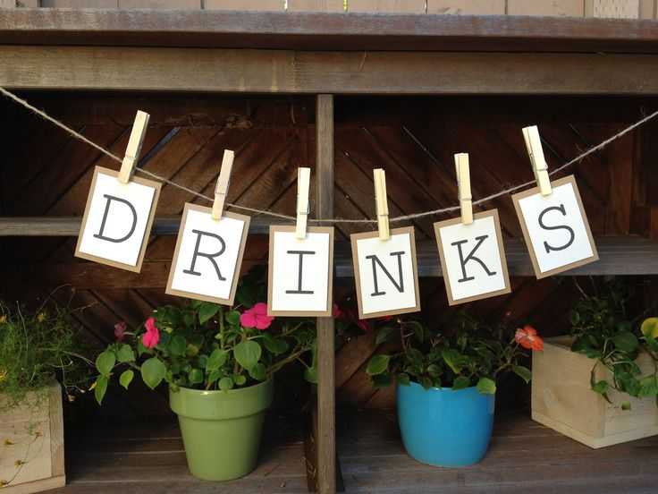 Drinks Bunting Banner- instead of drinks write kinley