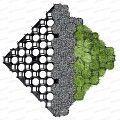 Dalle stabilisatrice à engazonner 100% recyclée