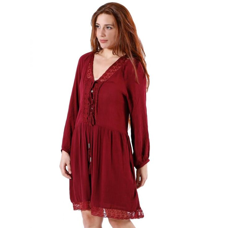 ATTRATTIVO Εθνικ μίντι φόρεμα με τούλι
