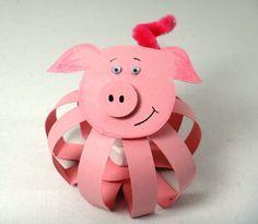 Glücksschwein, Papier, DIY