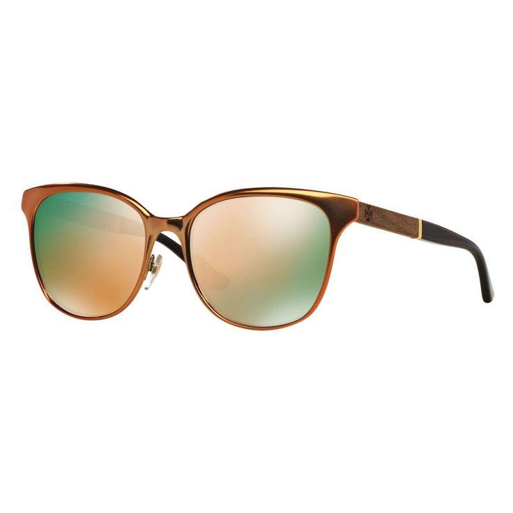 Tory Burch Women's TY6041 3103R5 Dark Tortoise Cat Eye Sunglasses