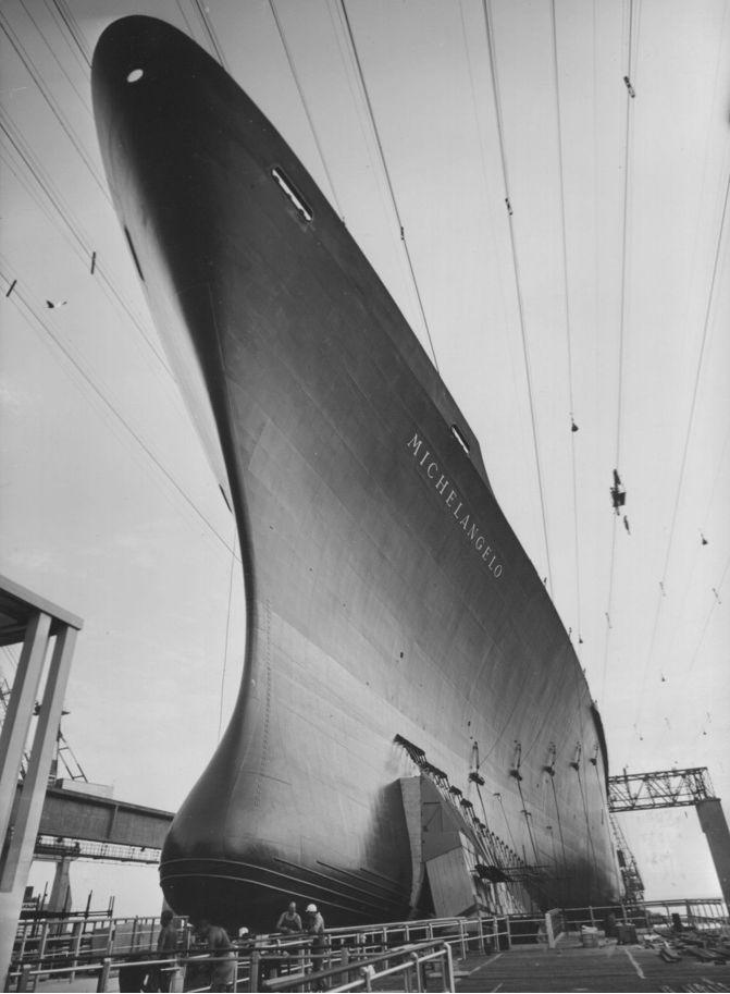 Italian Line MICHELANGELO before launch
