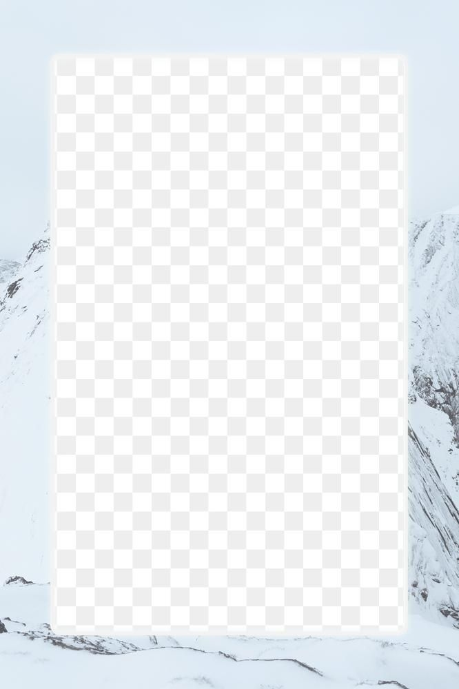 Snowy Mountain Frame Png Transparent Background Free Image By Rawpixel Com Marinemynt Transparent Background Background Design Frame