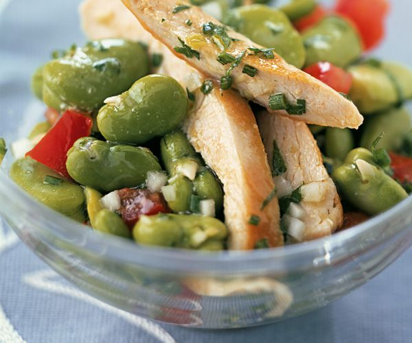 Salade de blanc de dinde aux fèves
