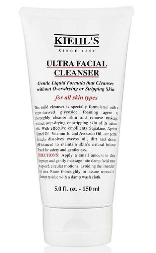 Kiehl's face wash is the perfect cleanser for cleaning without leaving skin dry.