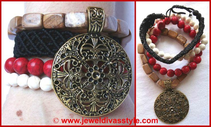 JDS - GYPSY LEE ROSE BRACELET STACK http://jeweldivasstyle.com/designer-inspired-brand-new-bracelet-stacks/-