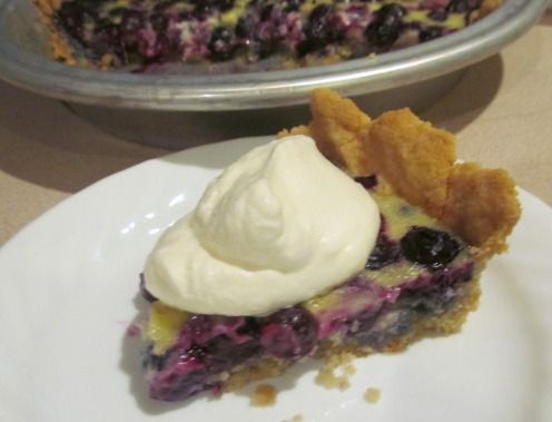 Blueberry Custard Pie (sugar-free and gluten-free). This is reduced ...