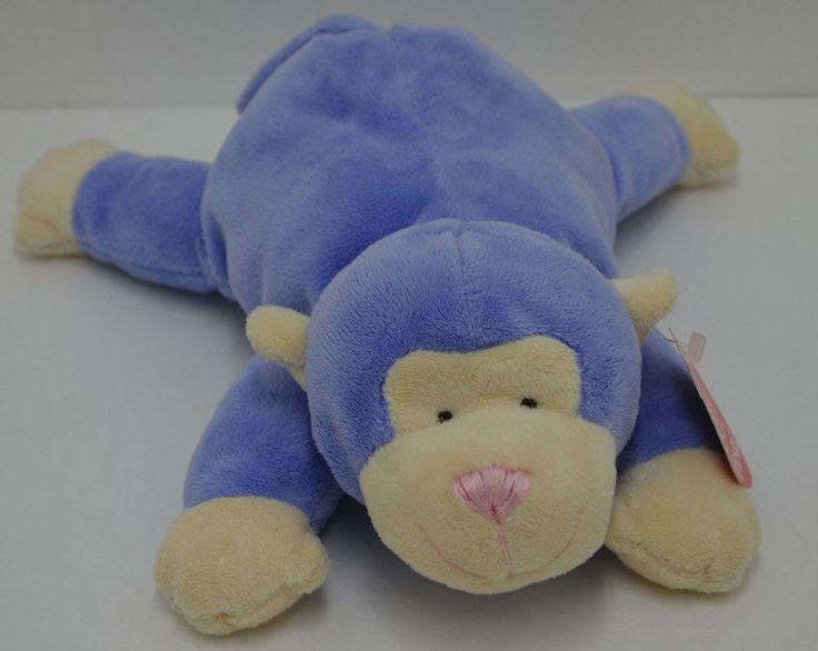 "Fiesta Pastel Monkey Plush Purple Cream Animal Bean Bag Feet #4020801 10"" NEW #Fiesta"