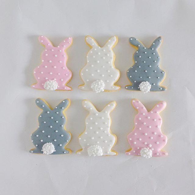 Easter bunny sugar cookies by little cookie co.
