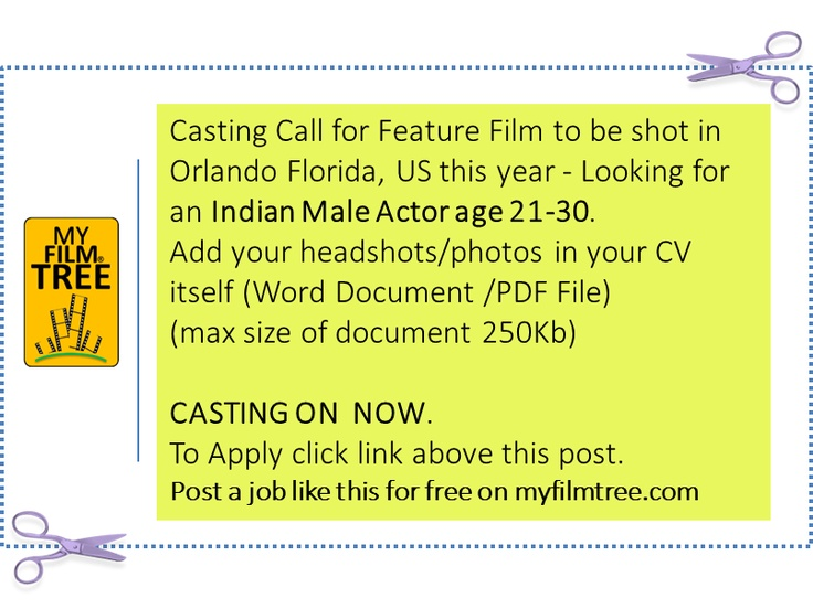 To Apply Click here http://myfilmtree.com/individual_job_detail.php?id=72