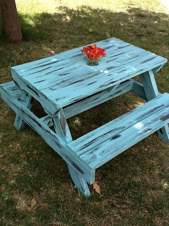8 Best DIY Picnic Table Images On Pinterest | Outdoor Tables, Outdoor  Furniture And Outdoor Spaces
