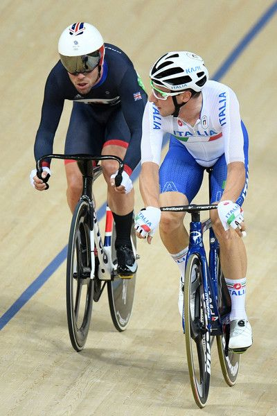 Mark Cavendish and Elia Viviani Men's Omnium Points Race Rio Olympic Games 2016 Getty Images