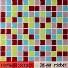 Hohe qualität abnehmbaren plastik wand-fliese blatt für home wand mosaik dekor